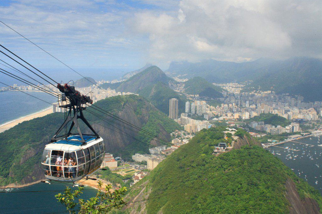 Brazil: Cable car to Sugar Loaf Mountain