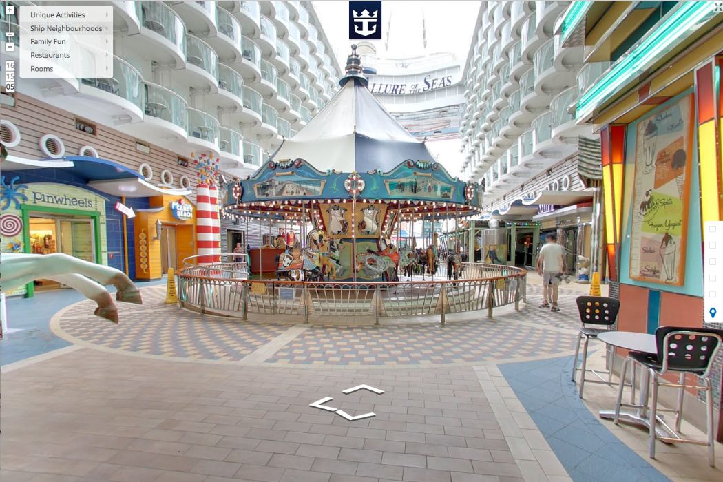 Allure of the Seas from Google view