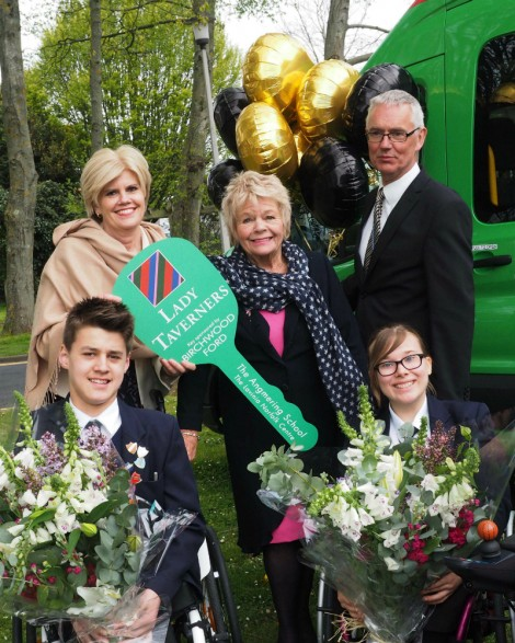 Seabourn gives minibus to disabled students at school