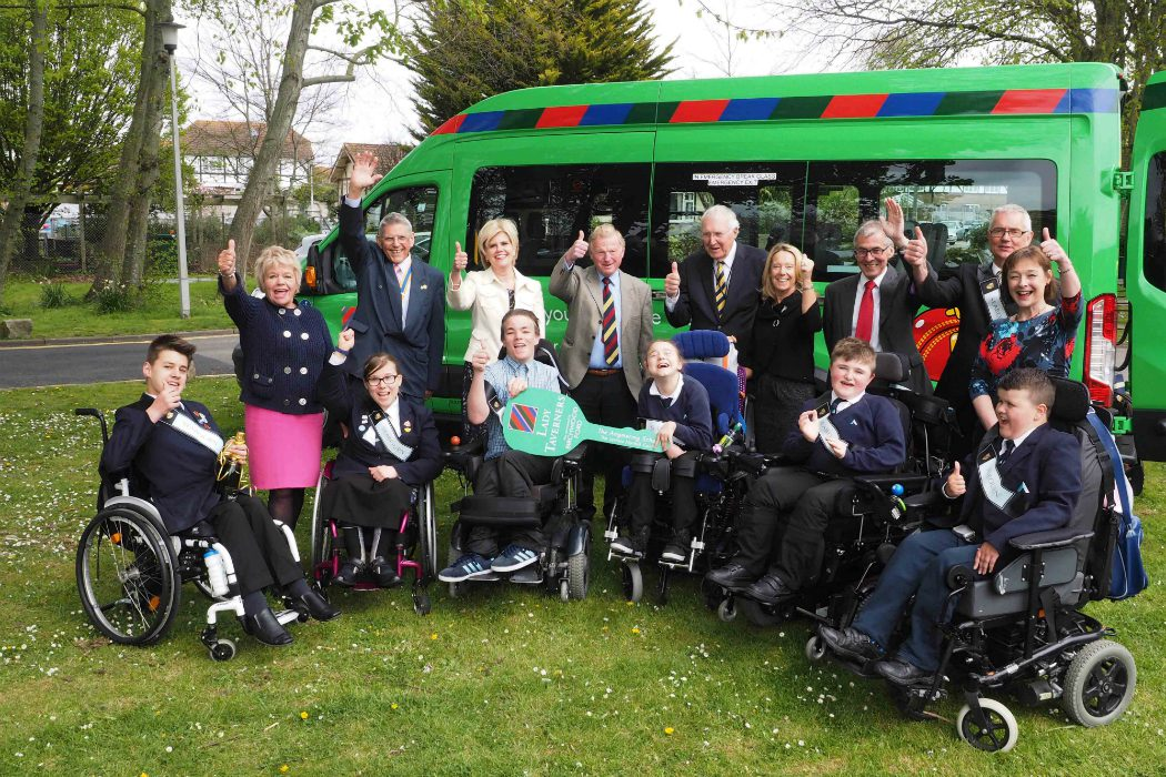 Seabourn give minibus to disabled students