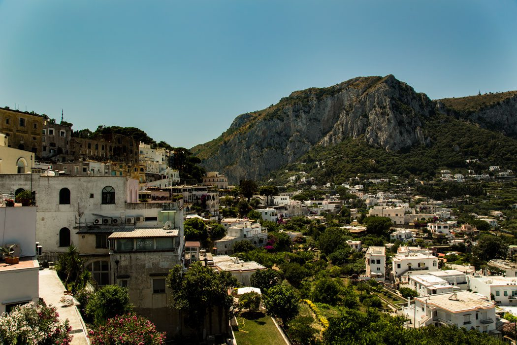 The hillsides of Capri