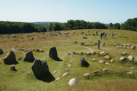 The viking burial site at Lindholm