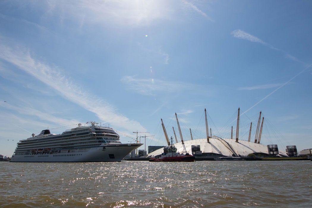 Viking Sea Christened In London - Cruise ship in london
