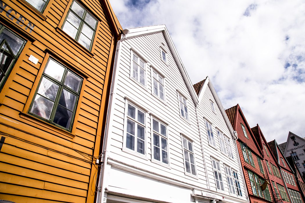 Bryggen, the old wharf of Bergen, a Unesco World Heritage site