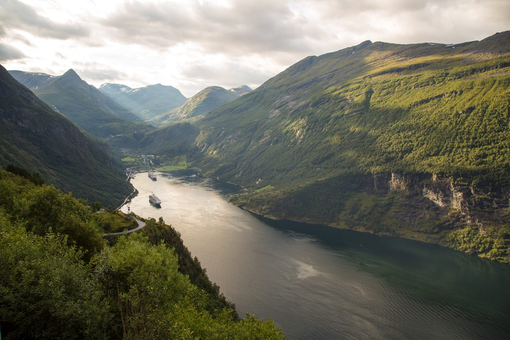 Magellan seen from the Eagle Bend viewpoint, Geiranger