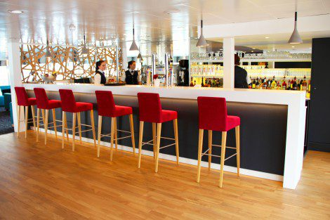 The Elbe Princesse's sophisticated bar