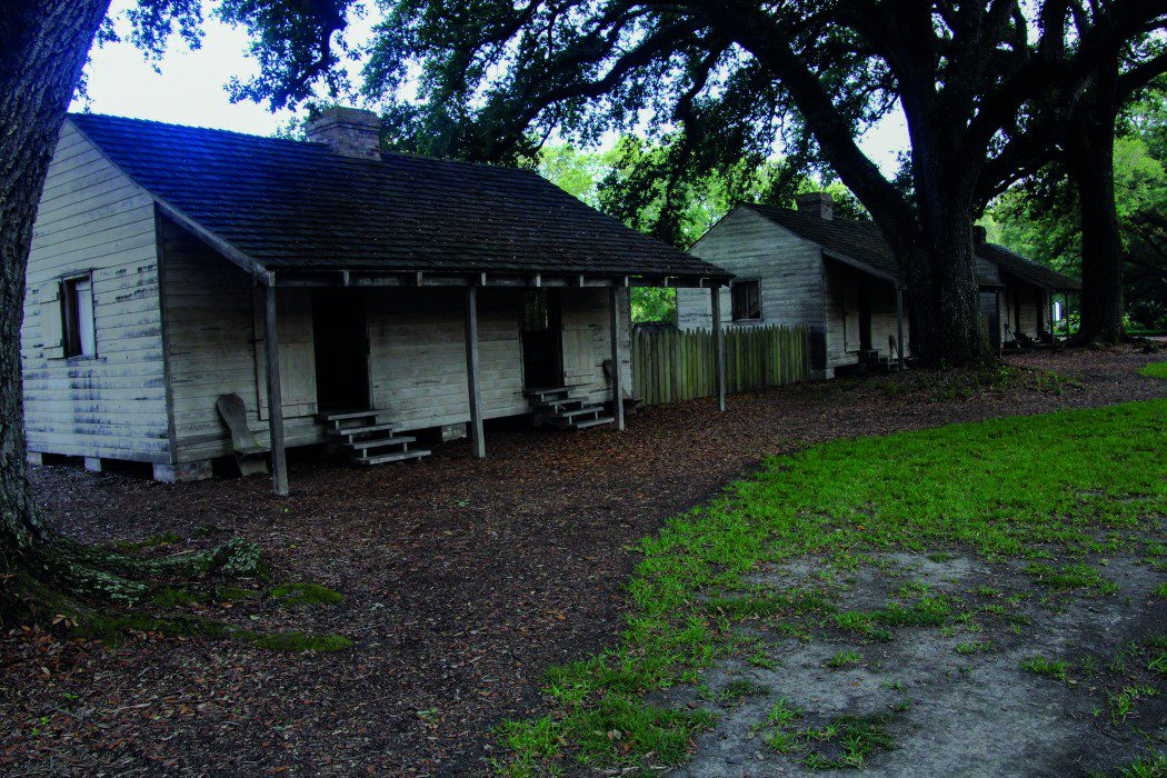The plantation's slave quarters