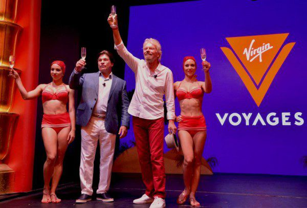 Tom McAlpin and Sir Richard Branson at the launch