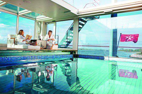 Enjoy the heated pools on board