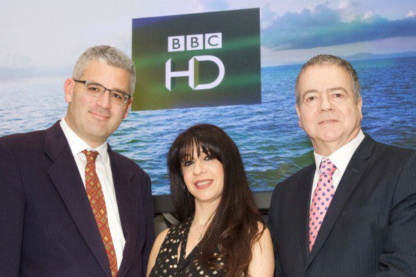 Travis Peterson (VP Product Global Eagle Entertainment) Zina Neophytou (VP Out of Home BBC Worldwide) and Graham Douglas (Media & Communications Manager Carnival UK)