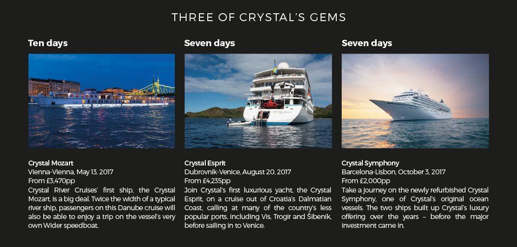 Three of Crystal's gems