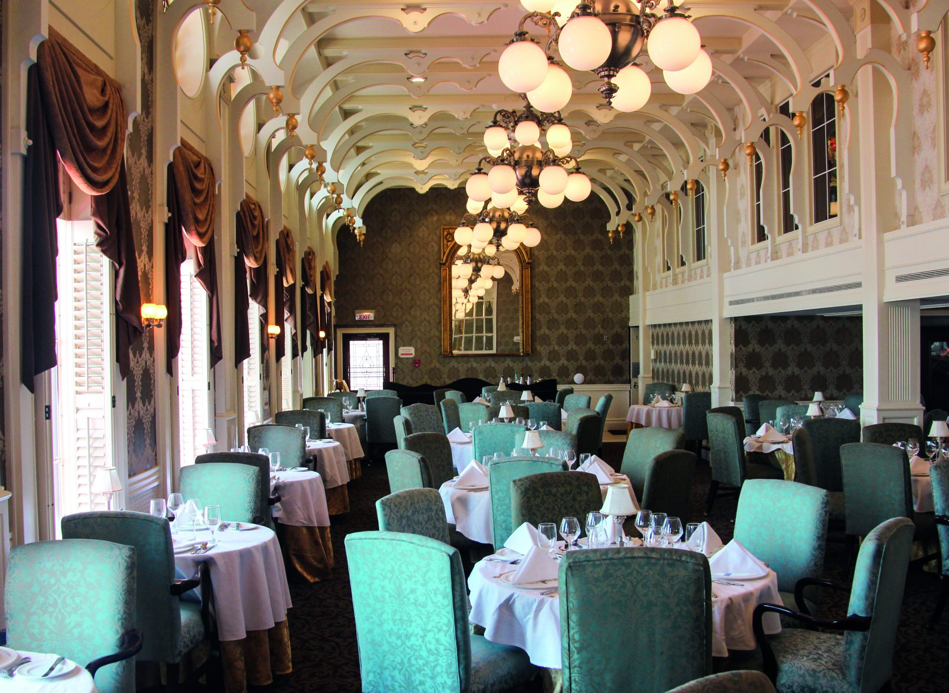 The JM White dining room on the Queen