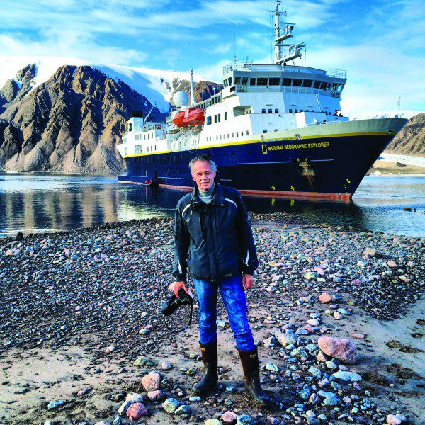 Sven Lindblad on Ellesmere Island, August 2014, Canadian Arctic, Northwest Passage, Canada, iphone photo, photographer unknown