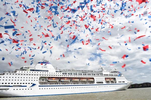 Cruise & Maritime Voyage Columbus Launch Day Pic: Christopher Dean / Scantech Media Ltd 07930 364436 chris@scantechmedia.com www.scantechmedia.com