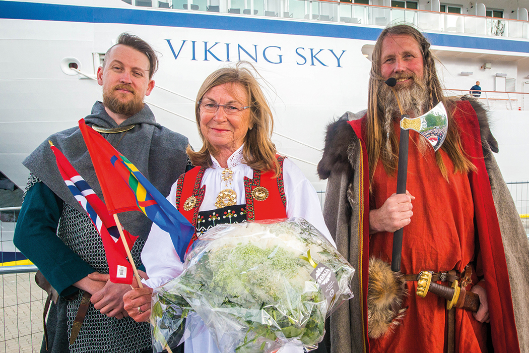 The launch of Viking Sky in Tromsø