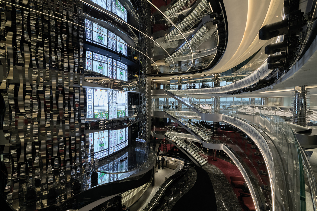The-stunning-atrium-at-the-heart-of-the-ship-acts-as-the-social-hub