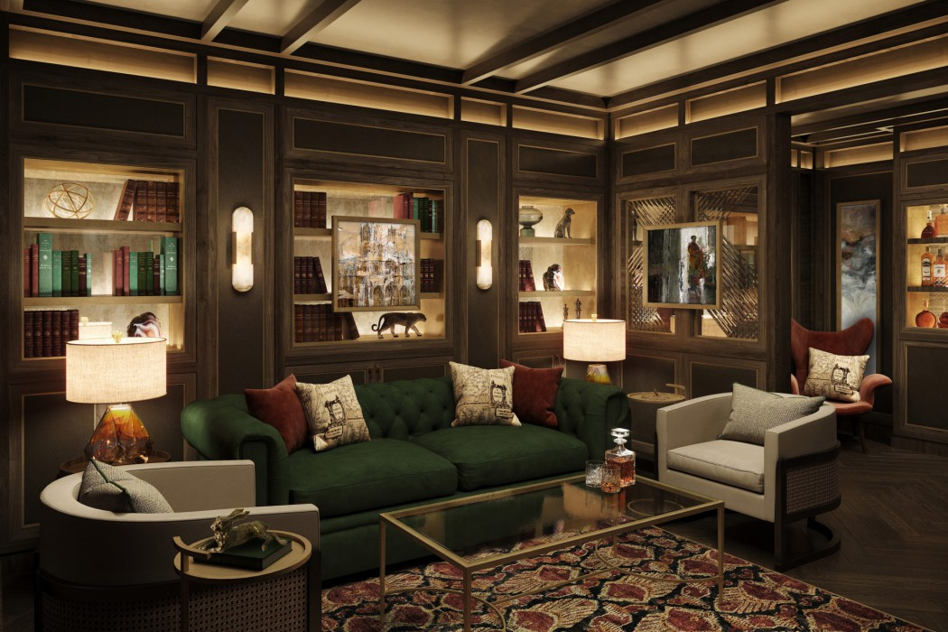 The Connoisseur Club cigar lounge aboard Crystal Endeavor will be reminiscent of those found aboard Crystal's Ocean ships