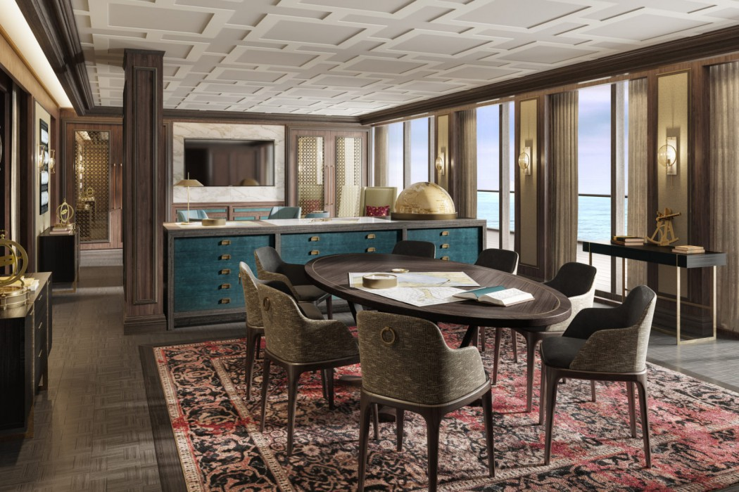 Crystal Endeavor's Expedition Lounge will be an ideal space for social gatherings and enrichment presentations