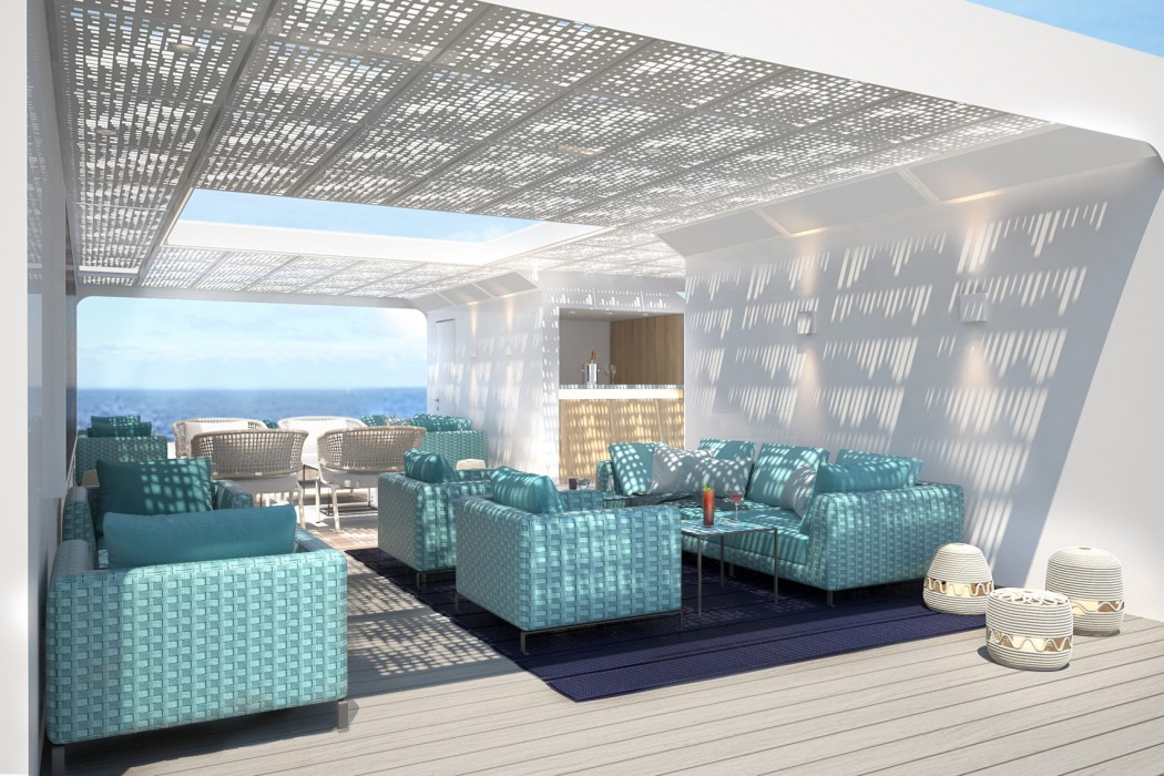 Outdoor, open spaces aboard Crystal Endeavor will be perfect for enjoying expansive views