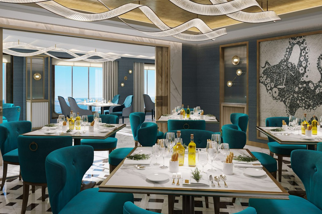 Prego aboard Crystal Endeavor will serve world-class Italian cuisine