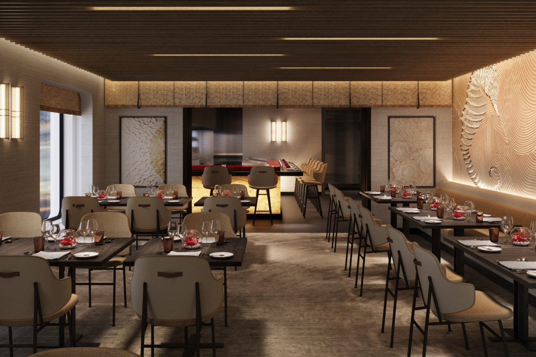 Umi Uma aboard Crystal Endeavor will serve the signature cuisine of Master Chef Nobu Matsuhisa