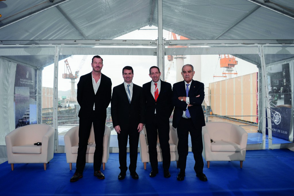 The team behind the new ships, from left: Fredrik Johansson, Tim Grisius, Doug Prothero and José García Costas