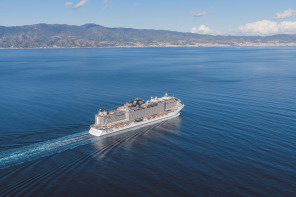 MSC's new ship Seaview – the first  of 11 on order – is seriously glitzy