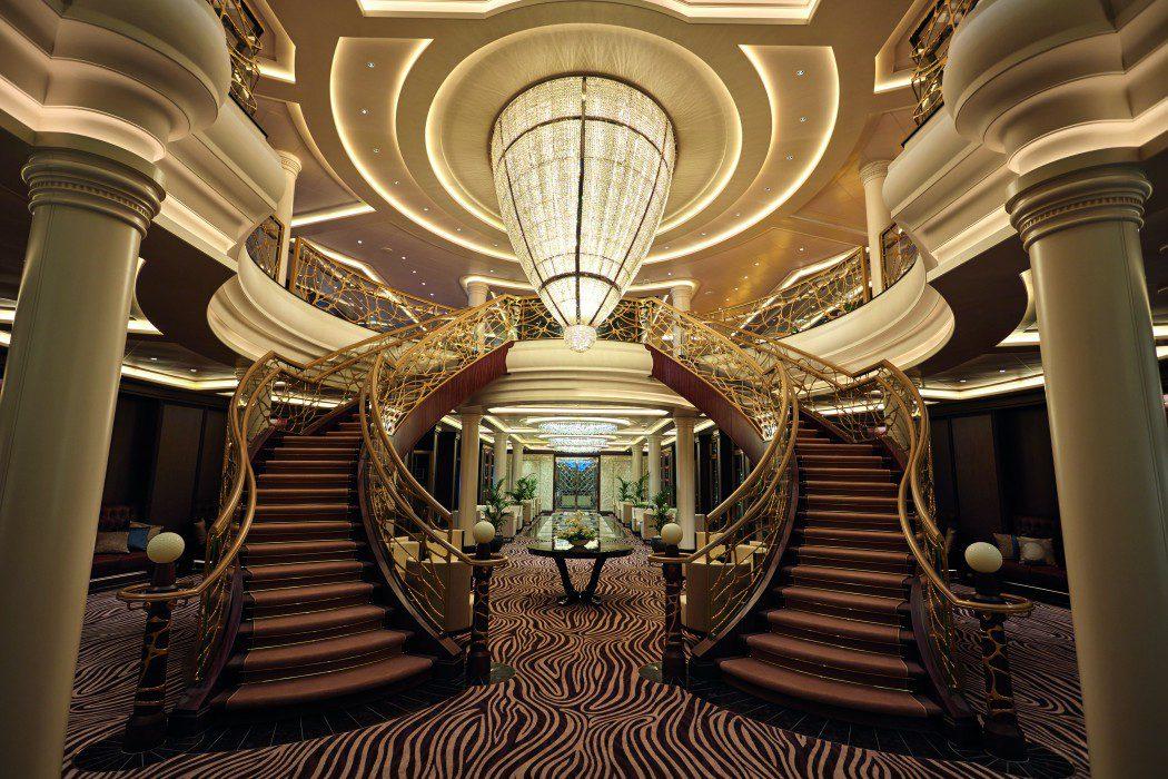 The atrium on board Regent Seven Seas