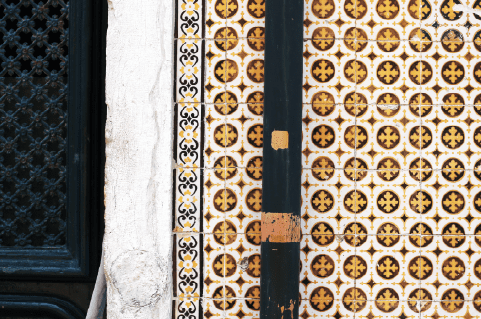 Azulejos, the intricate tiles that adorn so many buildings