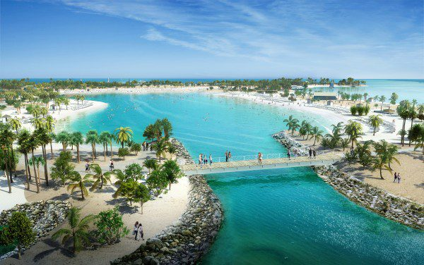 Ocean Cay MSC Marine Reserve features a Great Lagoon for swimming and water sports